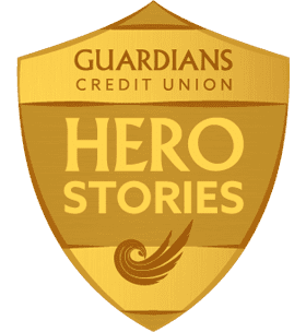 Guardians Credit Union Hero Stories badge