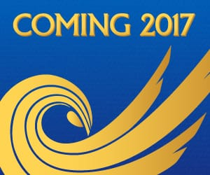 Guardians icon in gold under the words: Coming 2017