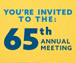 You're Invited to the 65th Annual Meeting