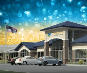 A rendering of the new Guardians Credit Union branch
