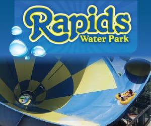 Rapids Water Park logo.