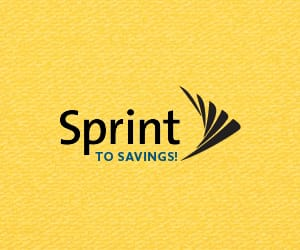 Sprint to Savings! logo.