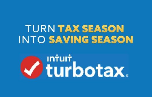 Turn tax season into saving season. The ituit turbotax logo at the bottom.