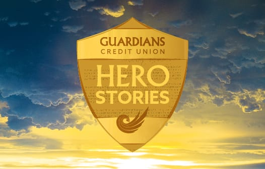 Guardians Hero Stories logo.