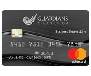 A view of the Business ExpressLine credit card.
