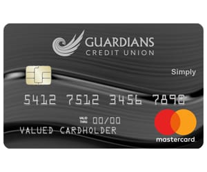 A view of the Simply credit card.